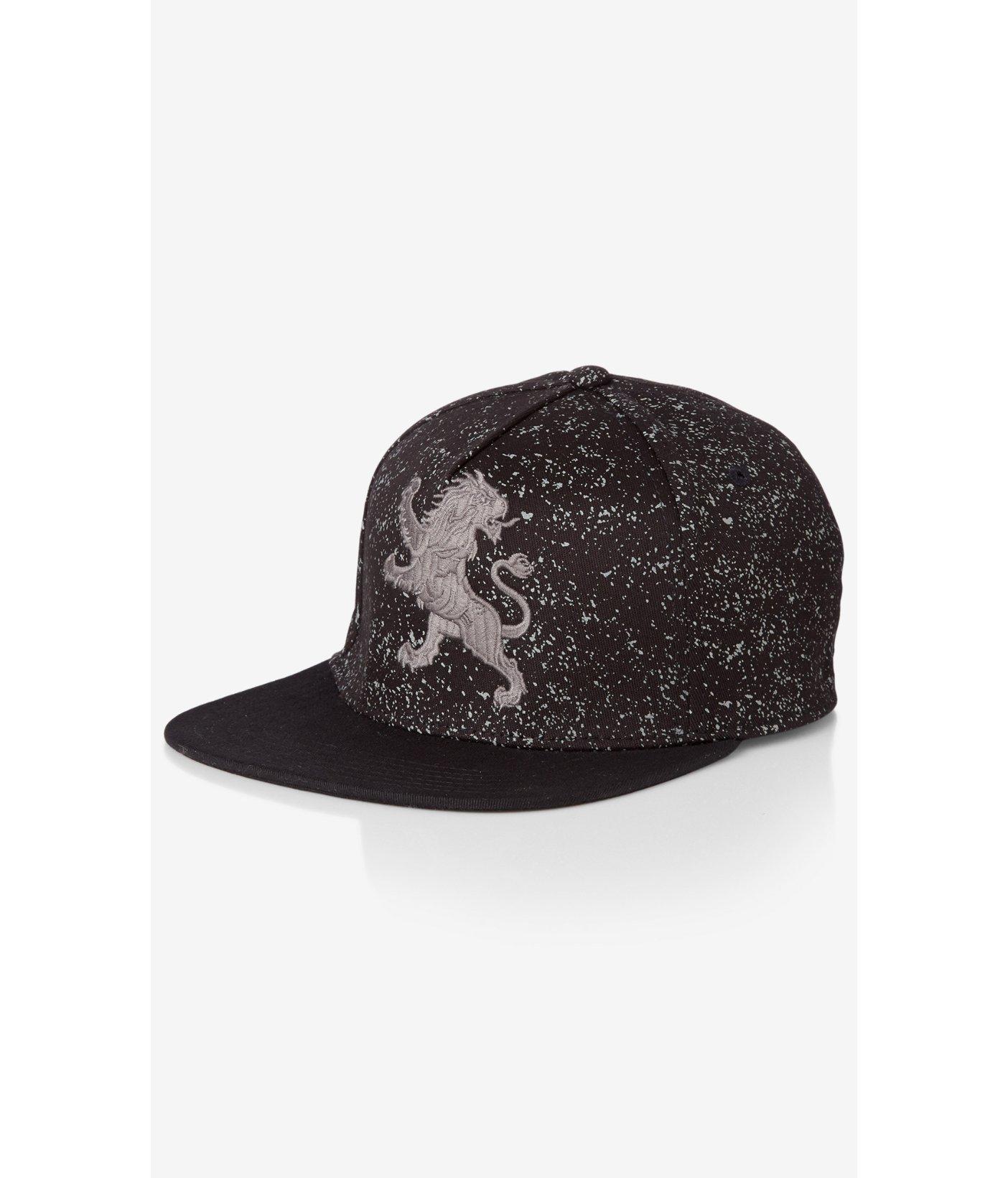 288fe74c8f3f7 Express Large Lion Splatter Baseball Hat in Gray for Men - Lyst