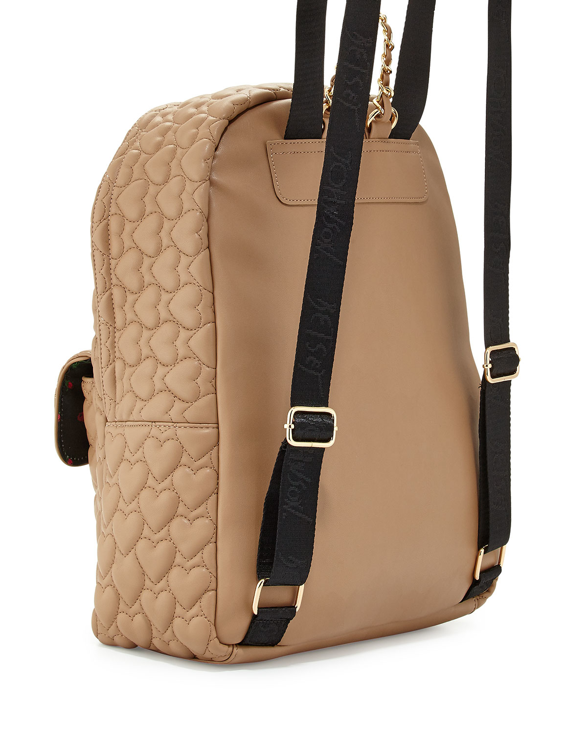 Betsey Johnson Be Mine Forever Quilted Backpack In Natural