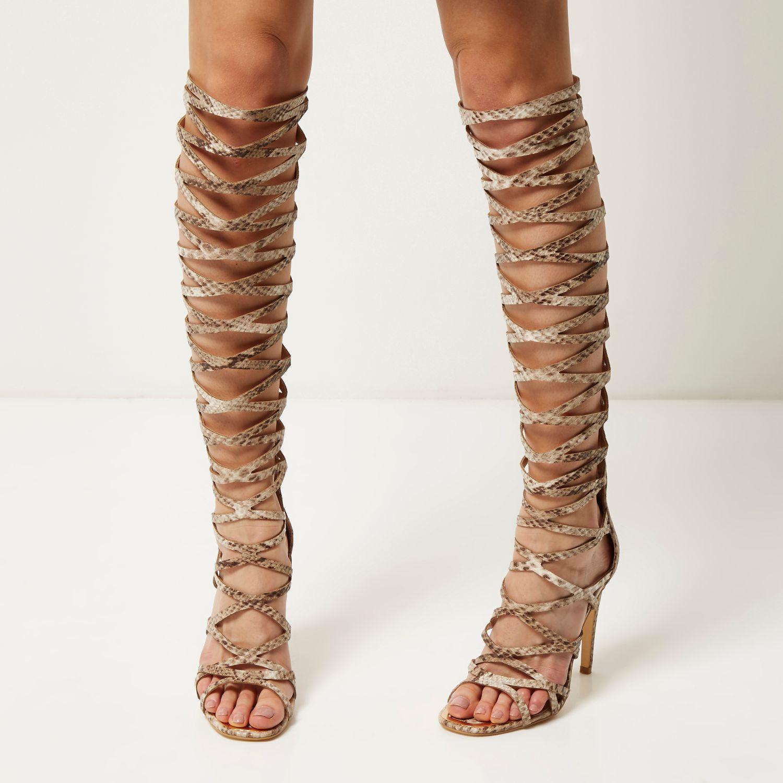 Cream Gladiator Heels