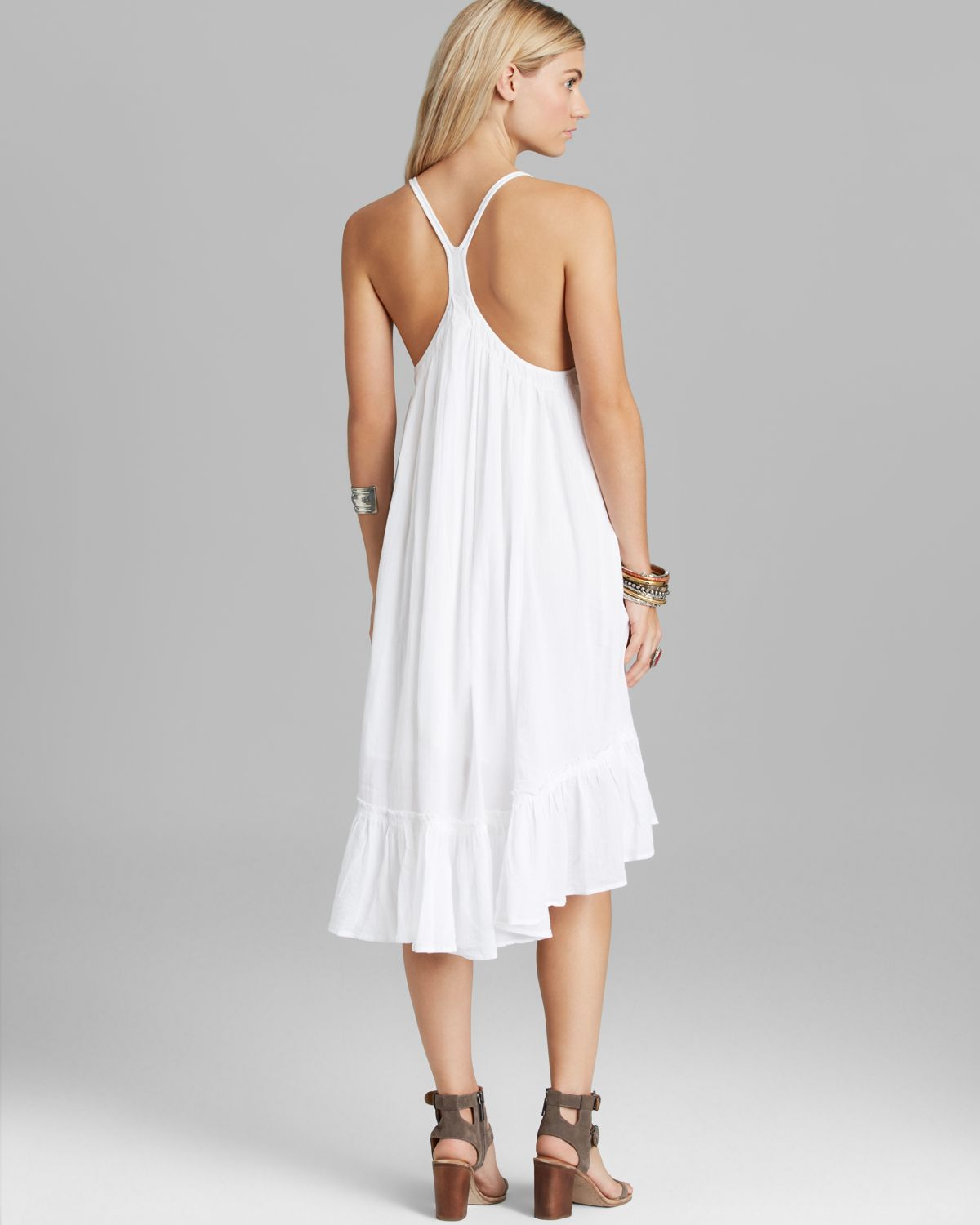 Free people Dress - Solid Gauze in White  Lyst