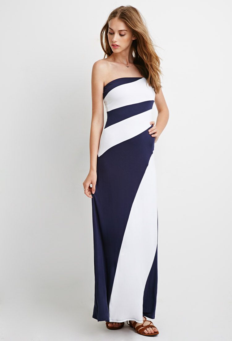 Cheap color block maxi dresses