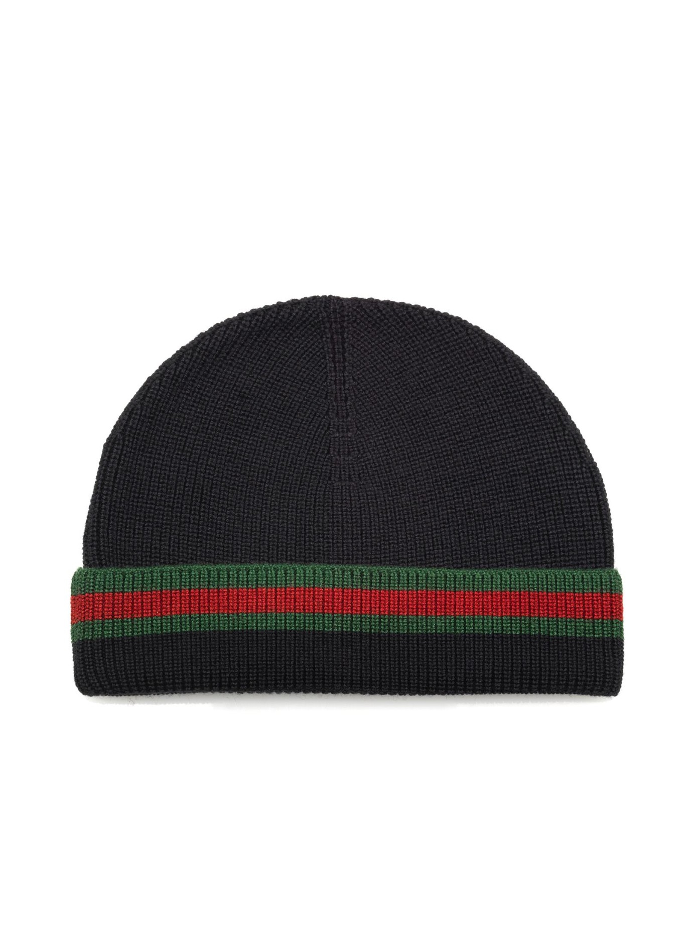 2eba528d4a34 Gucci Webbed Hem Wool And Silk-Blend Hat in Black for Men - Lyst