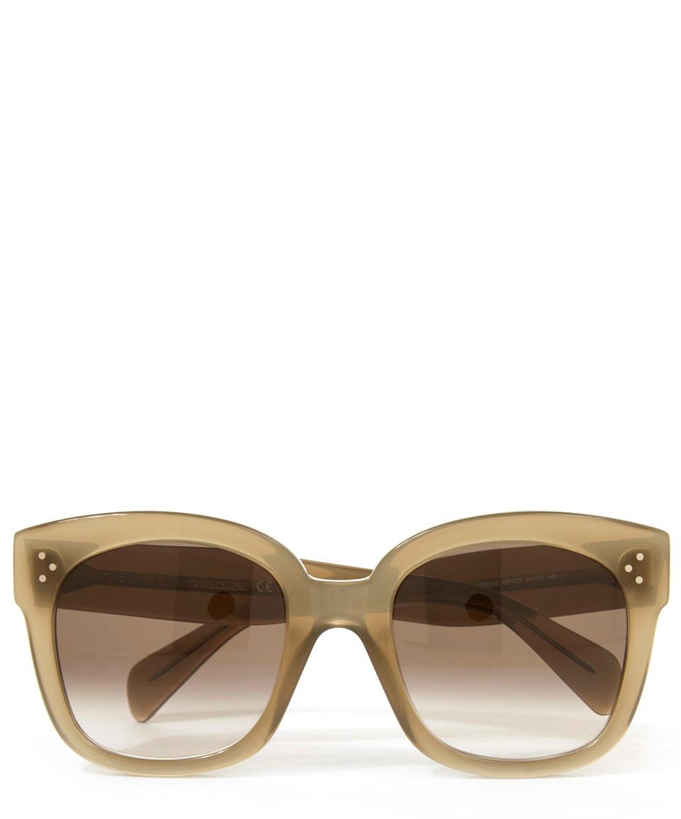 Celine New Audrey Sunglasses  céline khaki new audrey sunglasses in natural lyst