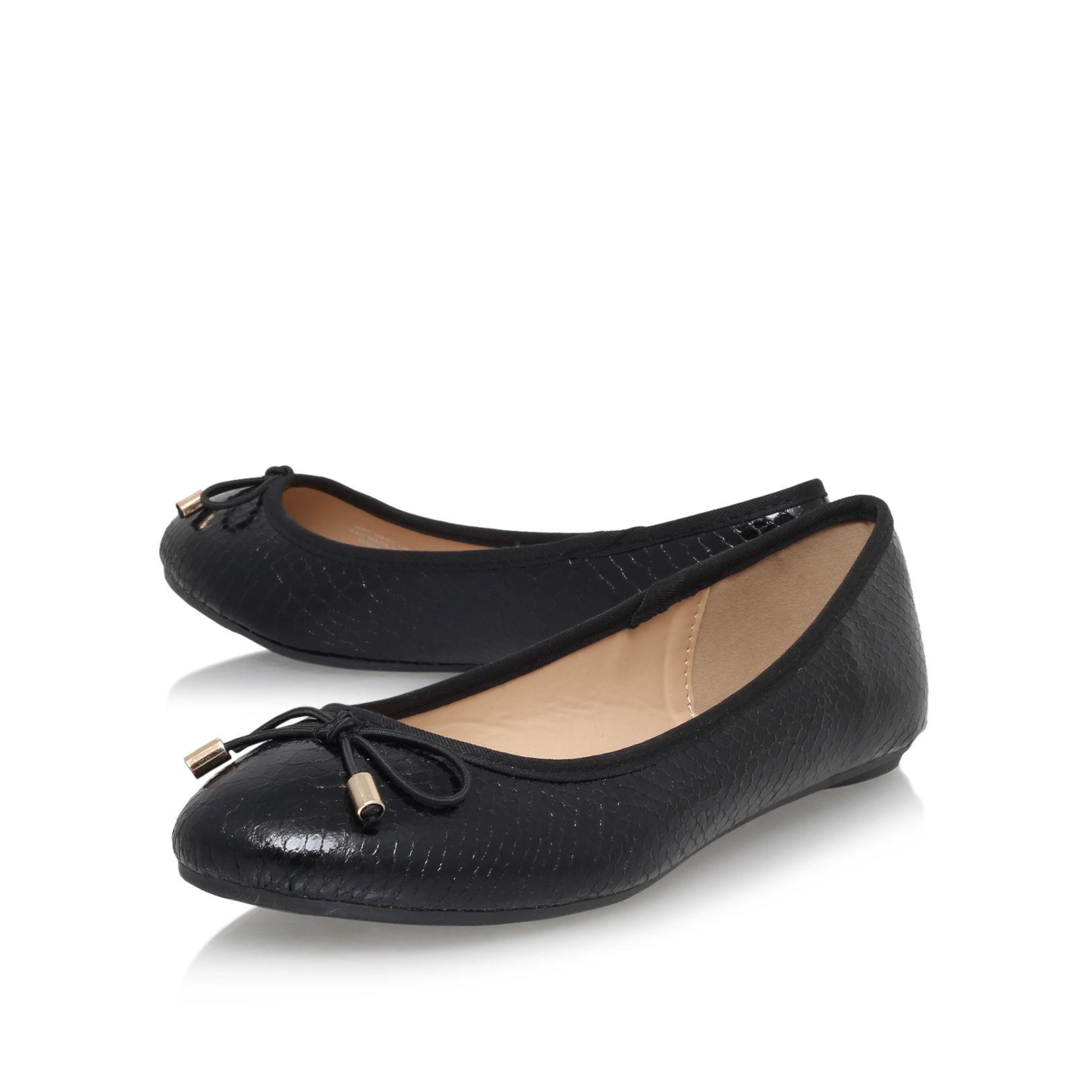 Black Flat Ballerina Shoes Carvela Kurt Geiger