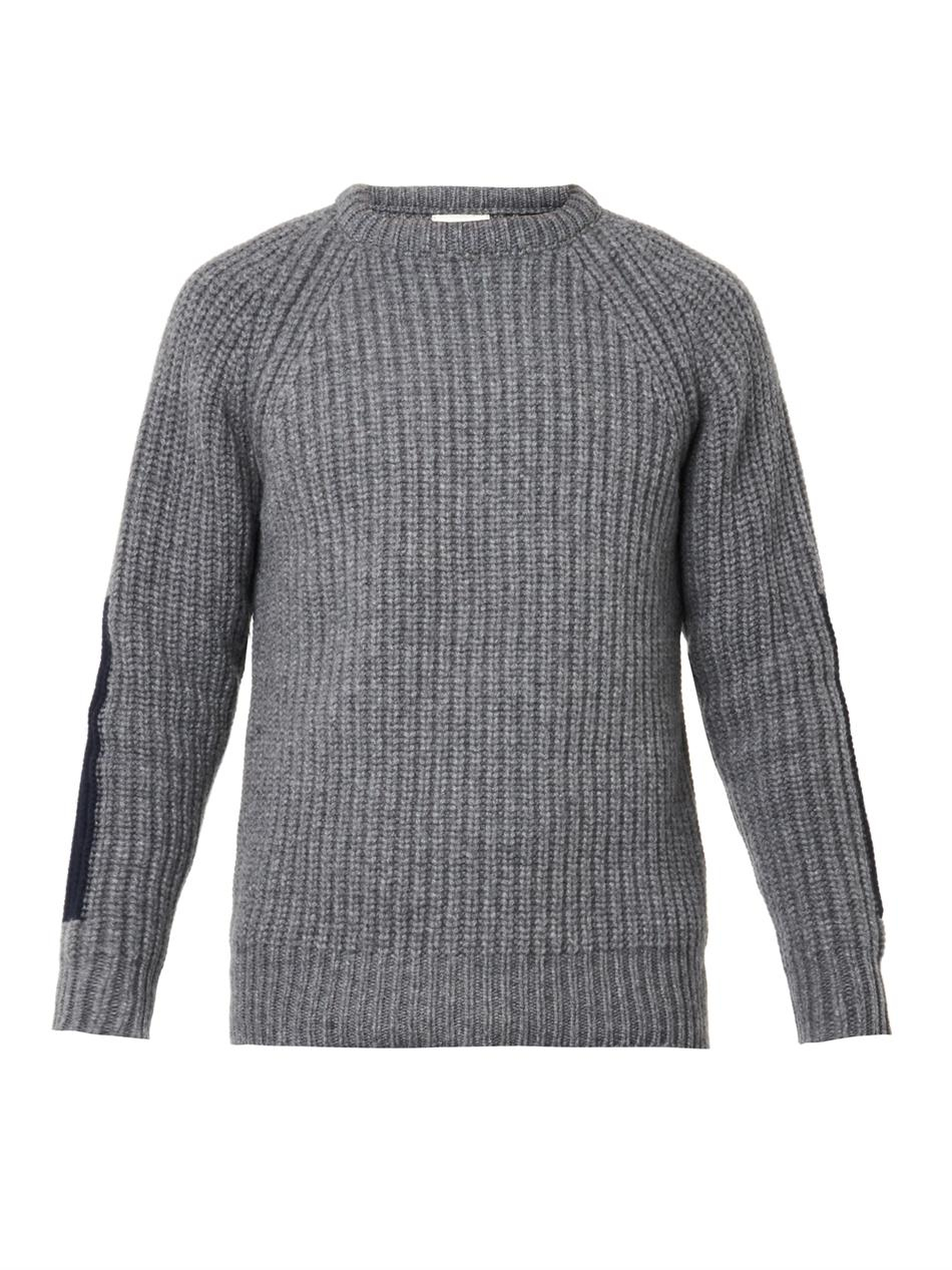 Esk Chunky Ribbed-Knit Sweater in Gray for Men | Lyst