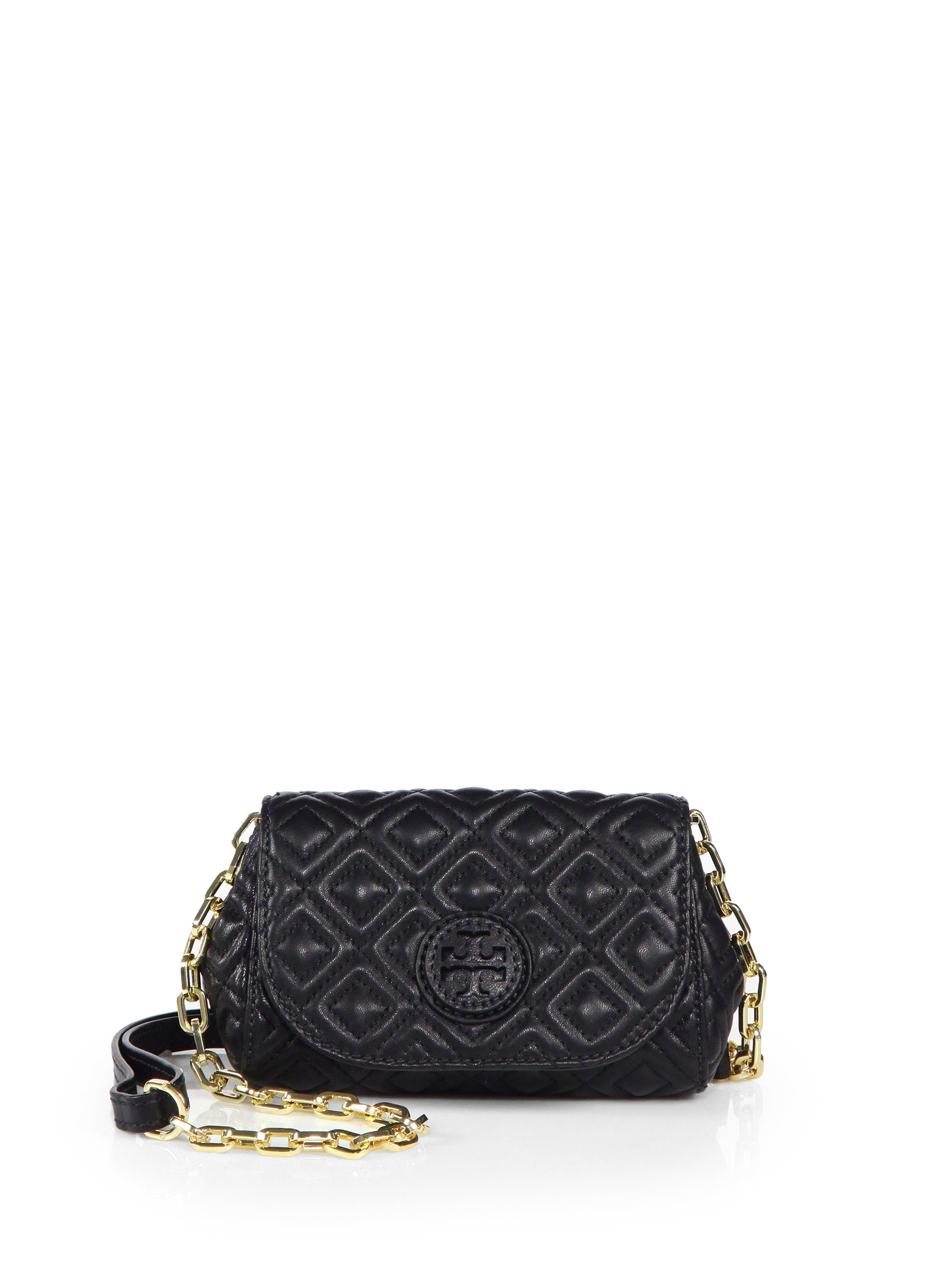 Lyst - Tory burch Marion Quilted Small Crossbody Bag in Black : marion quilted crossbody - Adamdwight.com