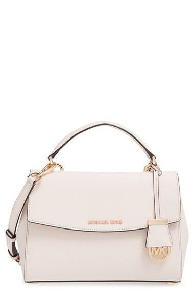 18dcaf742 MICHAEL Michael Kors 'small Ava' Saffiano Leather Satchel in White ...
