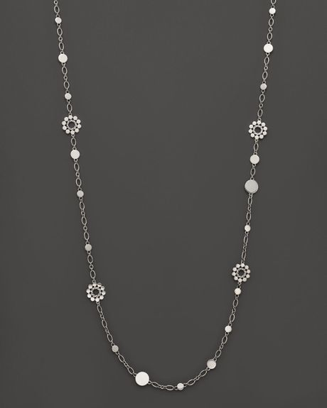 John Hardy Dot Silver Flower Station Sautoir Necklace 36