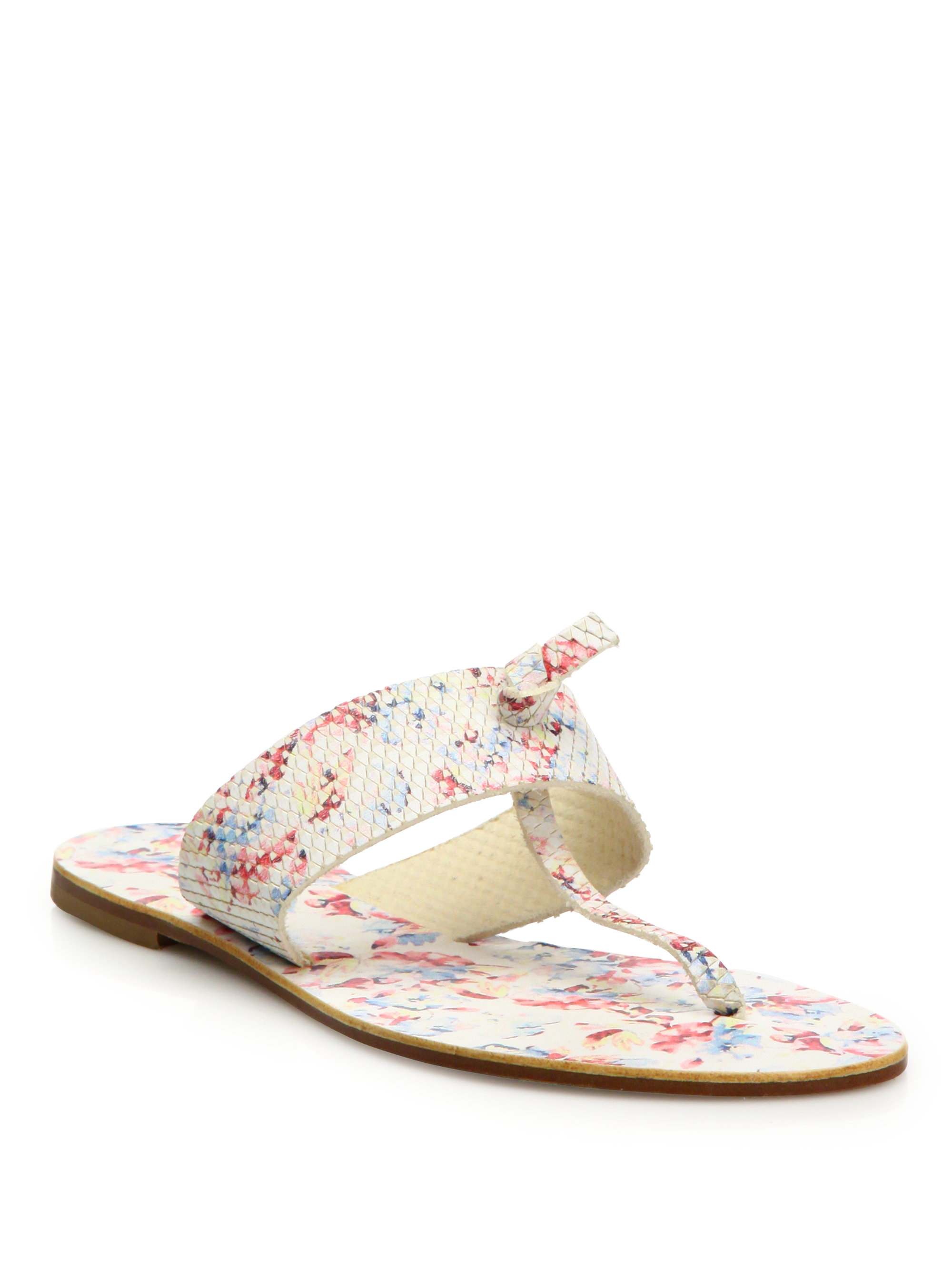 Lyst Joie Nice Floral Print Leather Thong Sandals