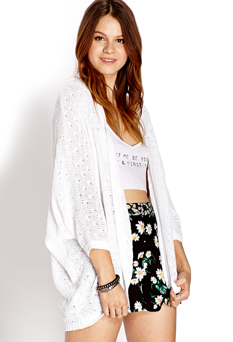 Forever 21 Favorite Open-knit Cardigan You've Been Added To The ...