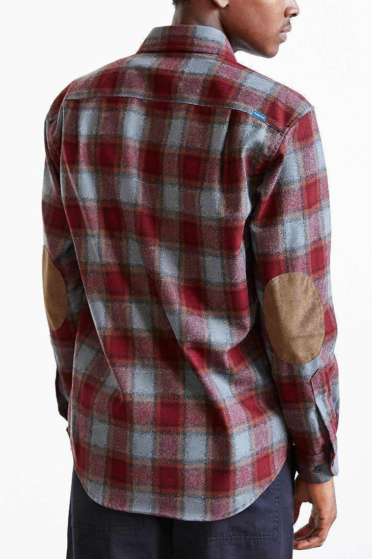 Lyst pendleton plaid elbow patch button down shirt in