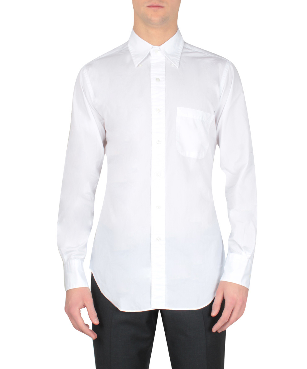 Thom browne popelin cotton shirt in white for men bianco for Thom browne white shirt