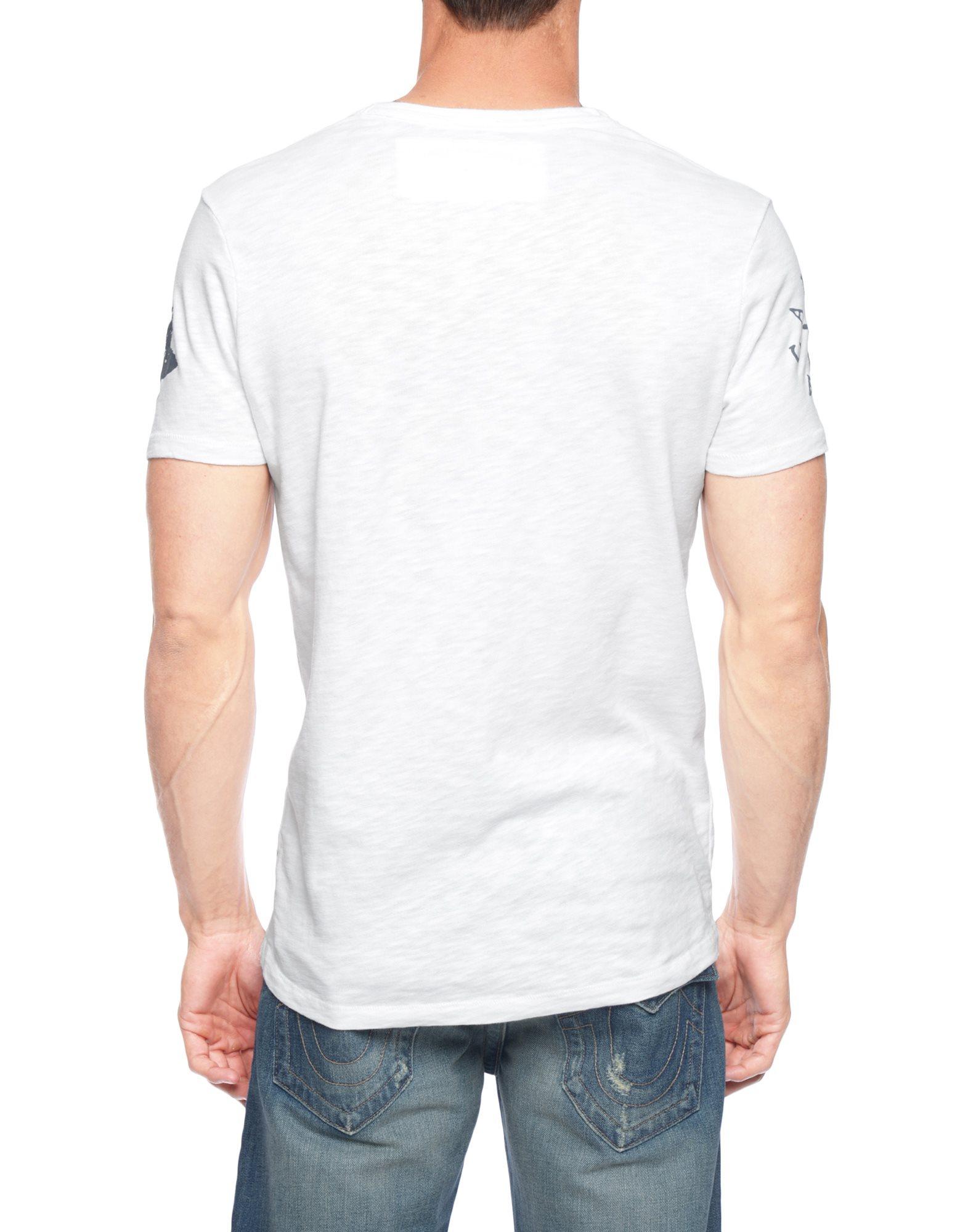 True religion european logo mens t shirt in white for men for European mens dress shirts