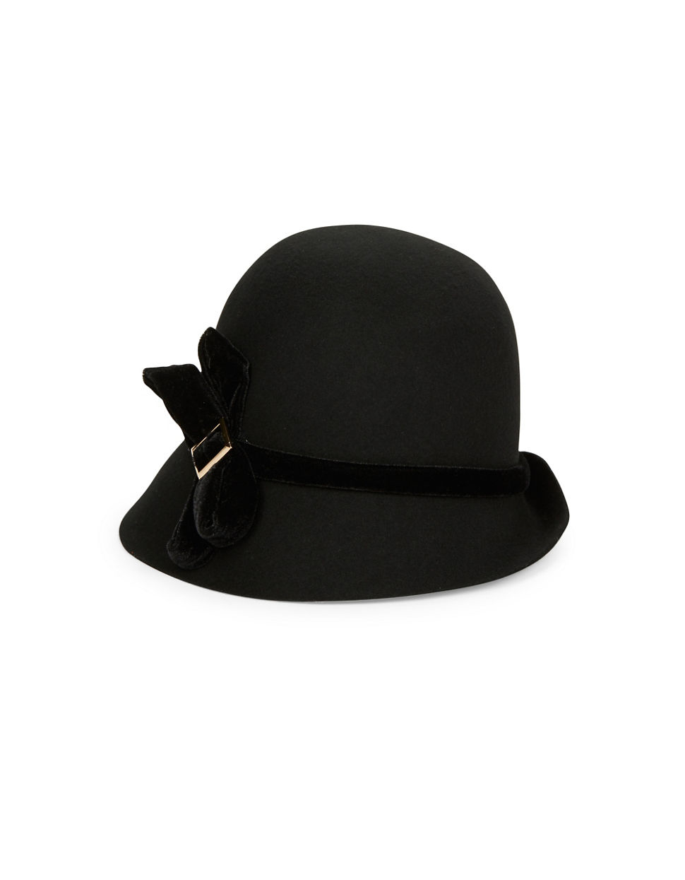 e7e1c242a40 Giovannio Velvet Banded Wool Cloche Hat in Black - Lyst