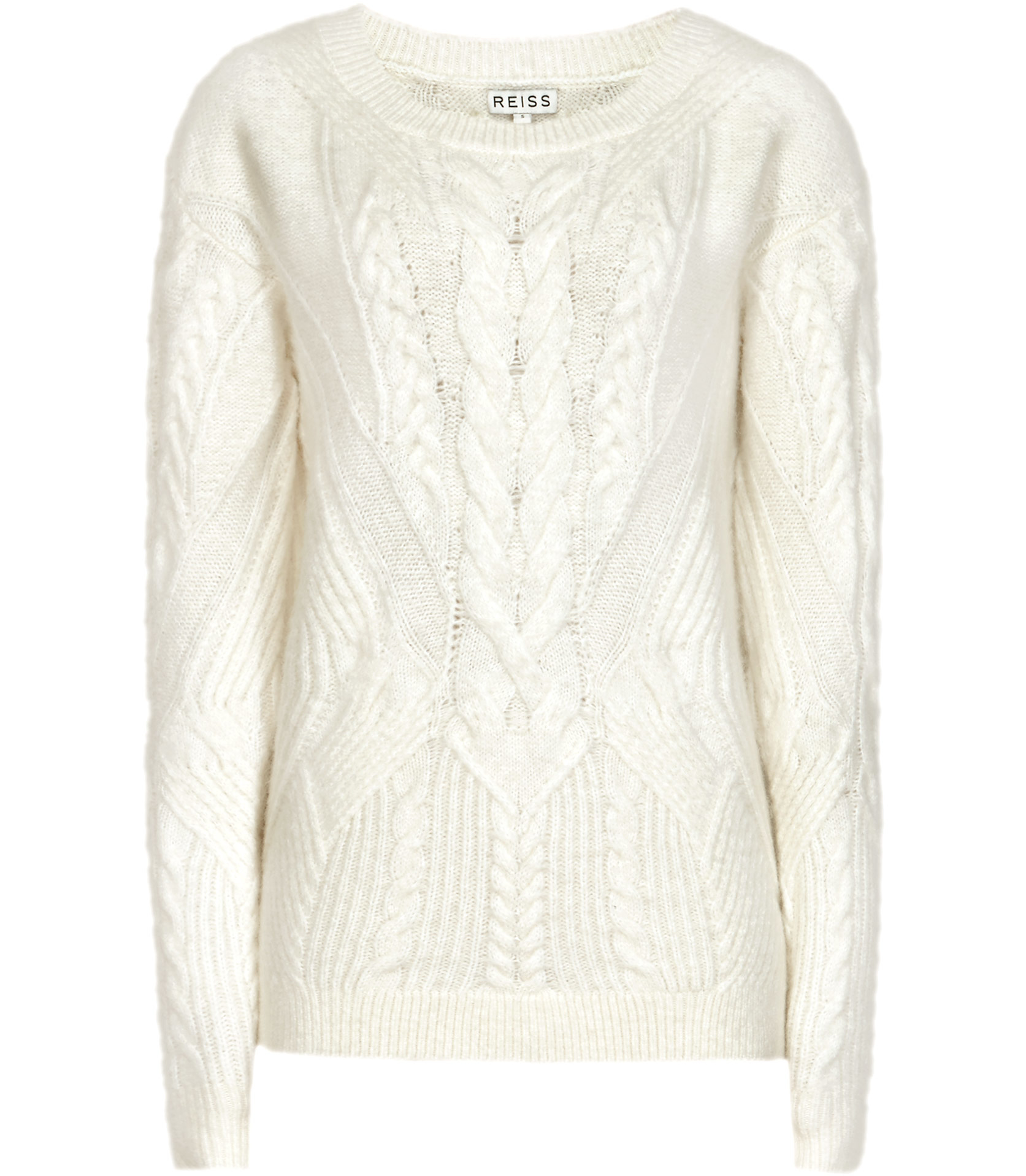 Reiss Maia Cable-knit Jumper in White | Lyst