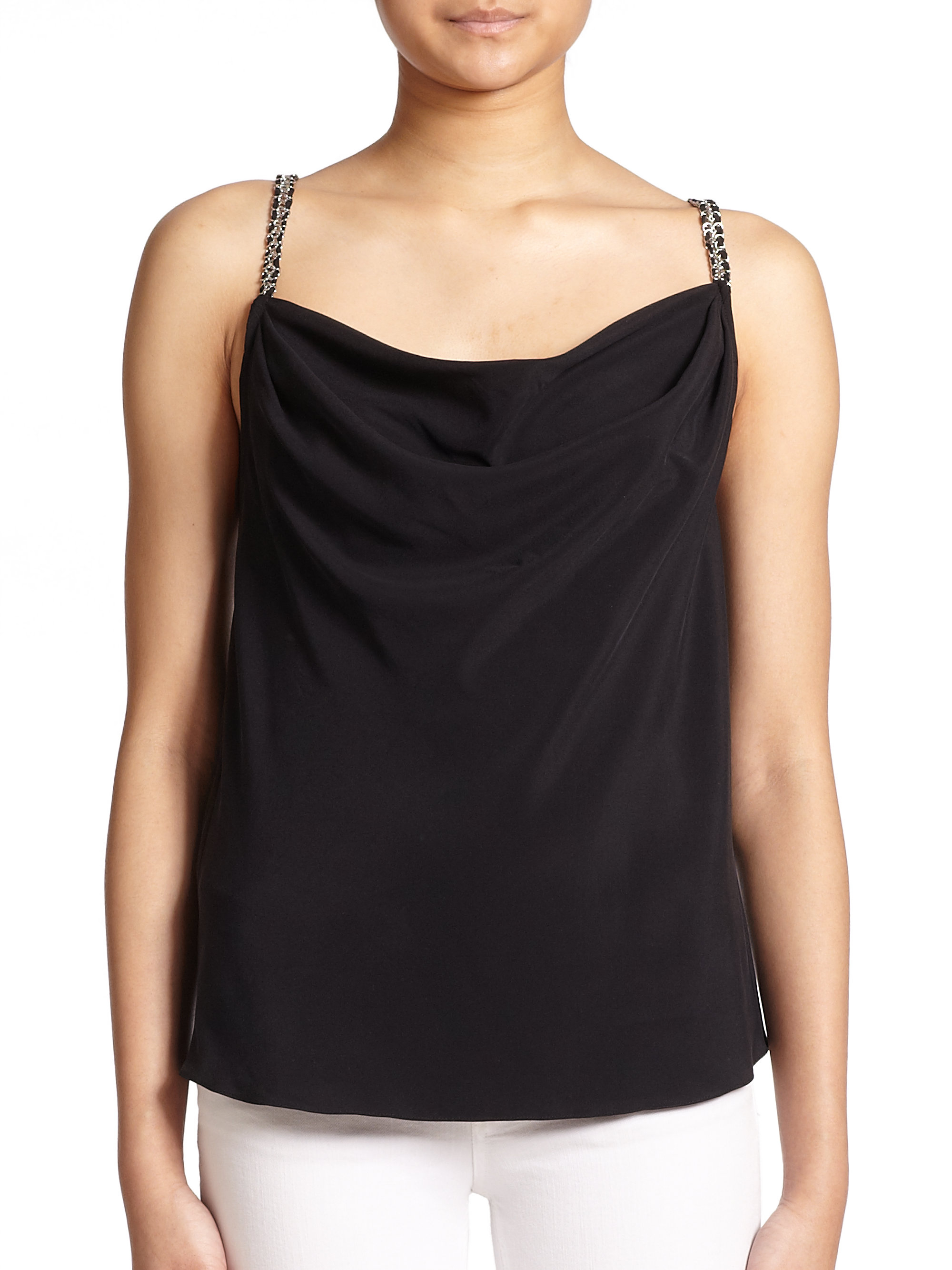 the clothing draped drapes top toga enlarged tops women products sleeveless realreal