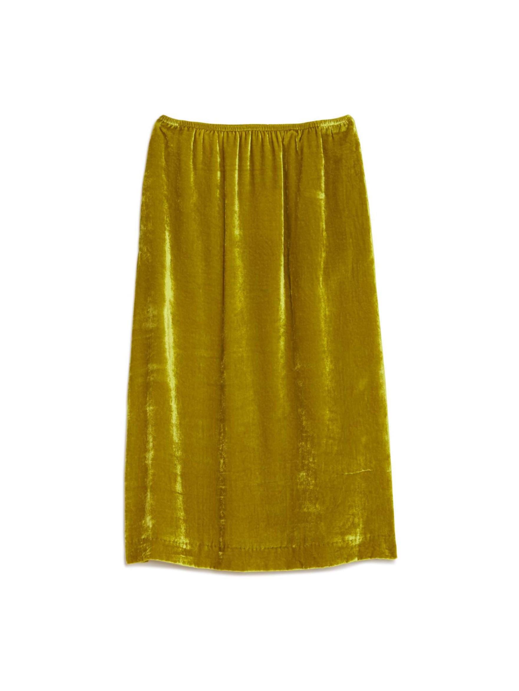masscob velvet midi skirt in green lyst