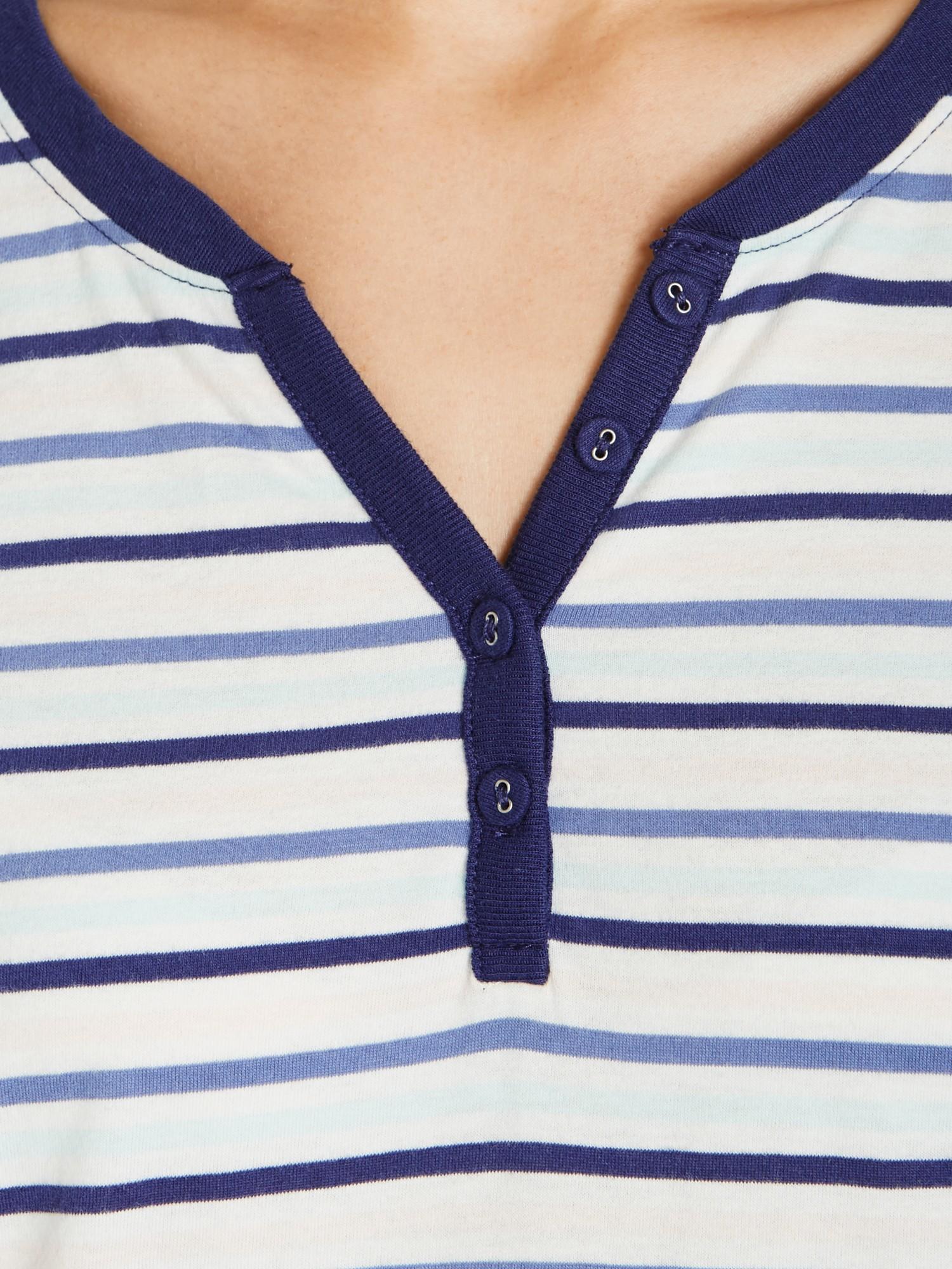 Lyst - John lewis Stripe Jersey Long Sleeve Nightdress f7ecc77e3