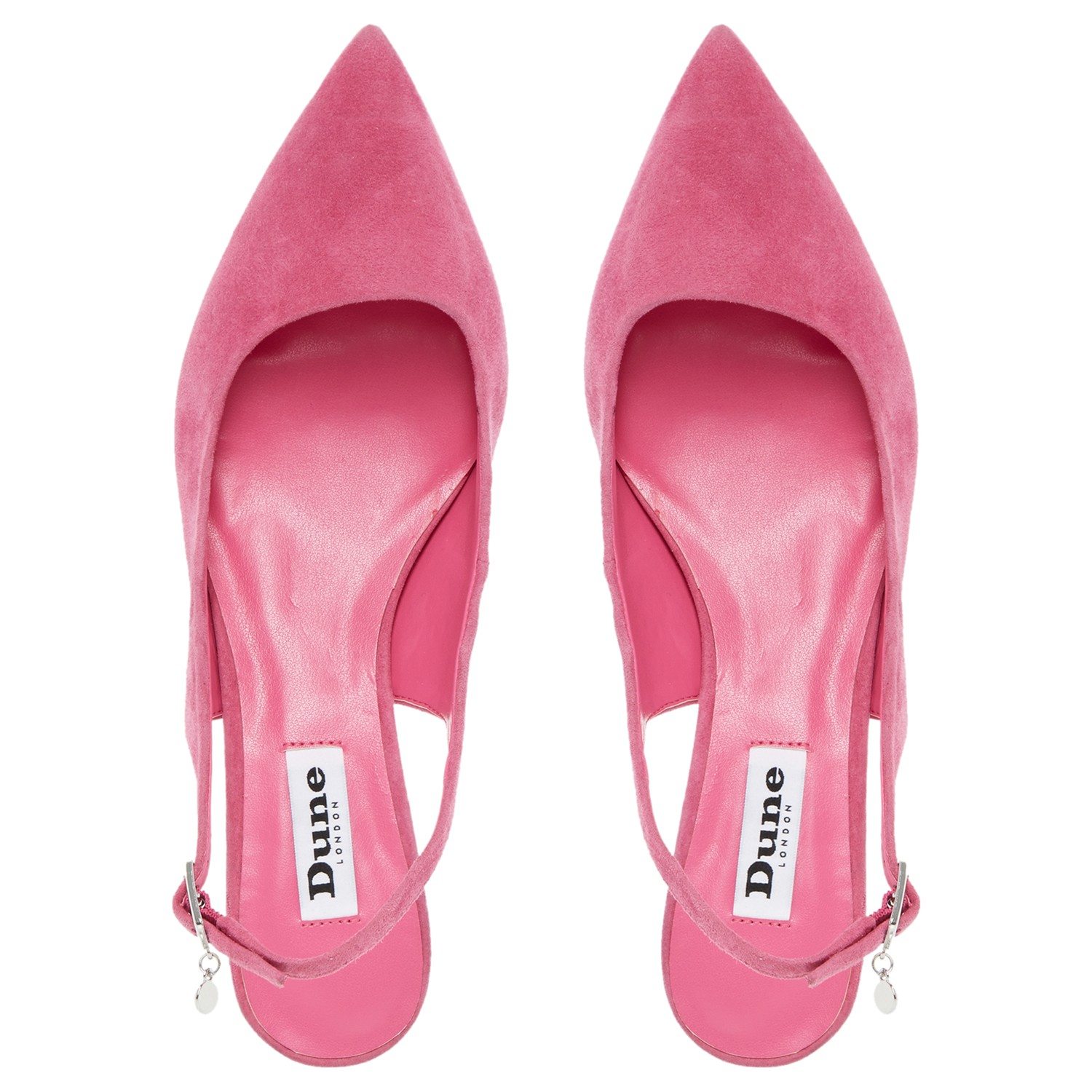 Hot Pink Kitten Heel Shoes - Is Heel