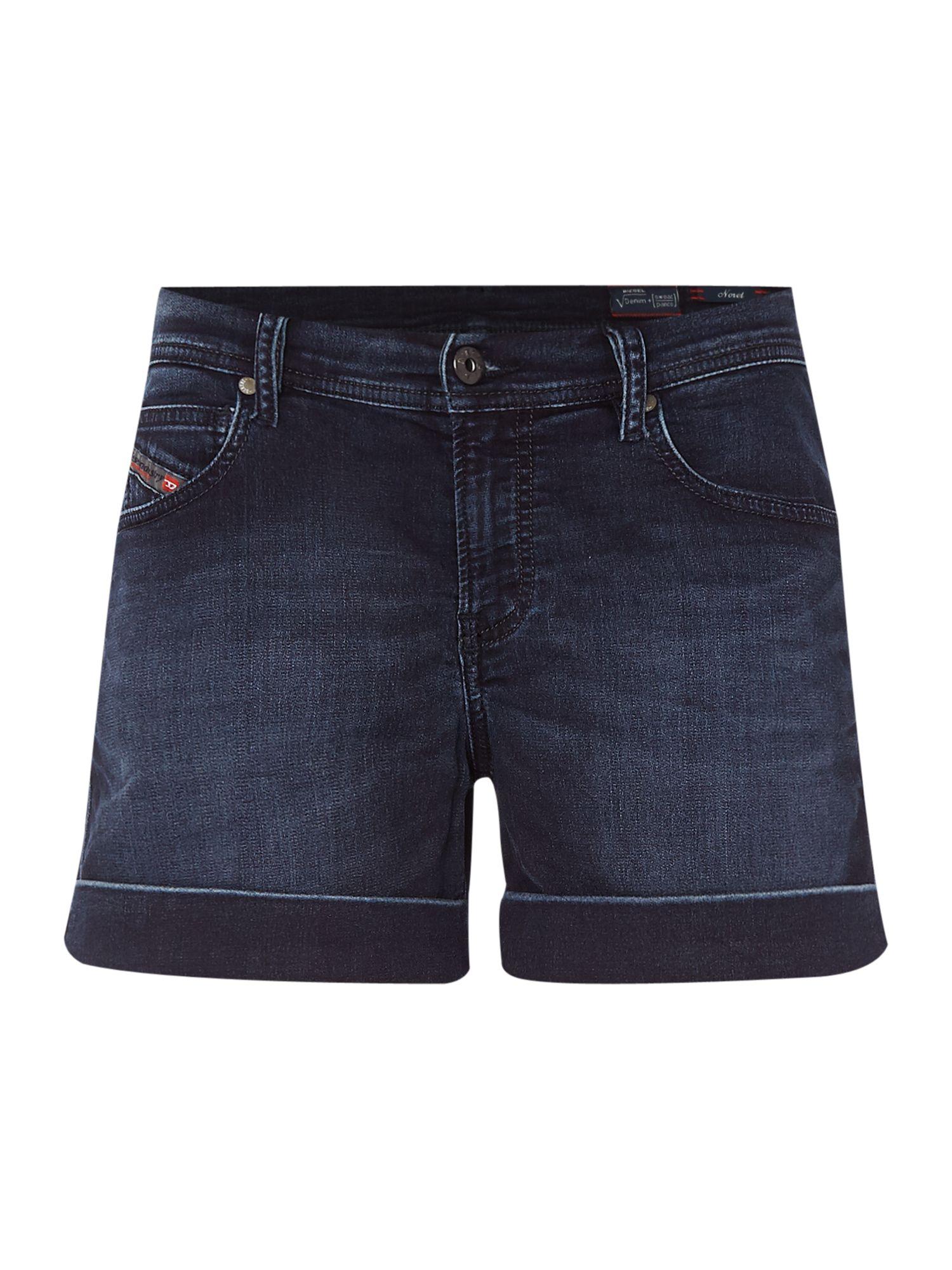 diesel noret ne 0842w jogg jeans shorts in blue lyst. Black Bedroom Furniture Sets. Home Design Ideas