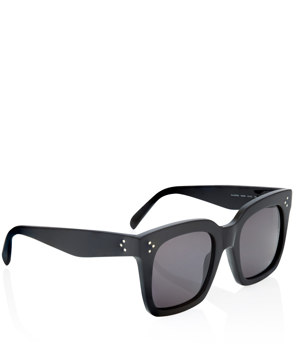 Lyst C 233 Line Black Tilda Oversized Sunglasses In Black