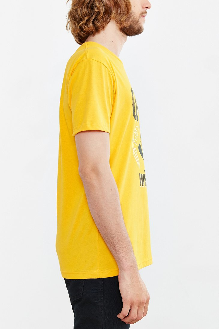 Urban outfitters Old Grand-dad Whiskey Tee in Yellow for Men | Lyst