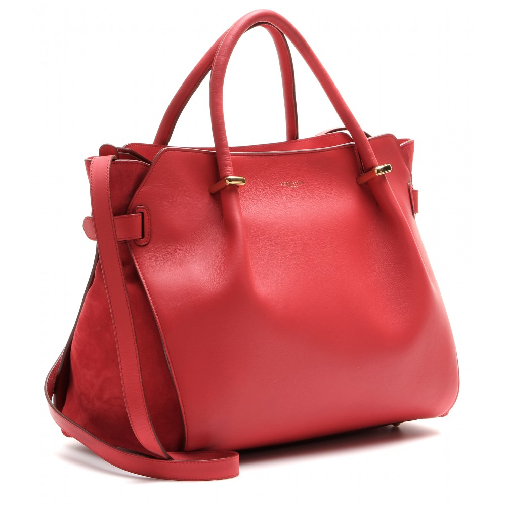 Lyst Nina Ricci March 233 Leather Shoulder Bag In Red