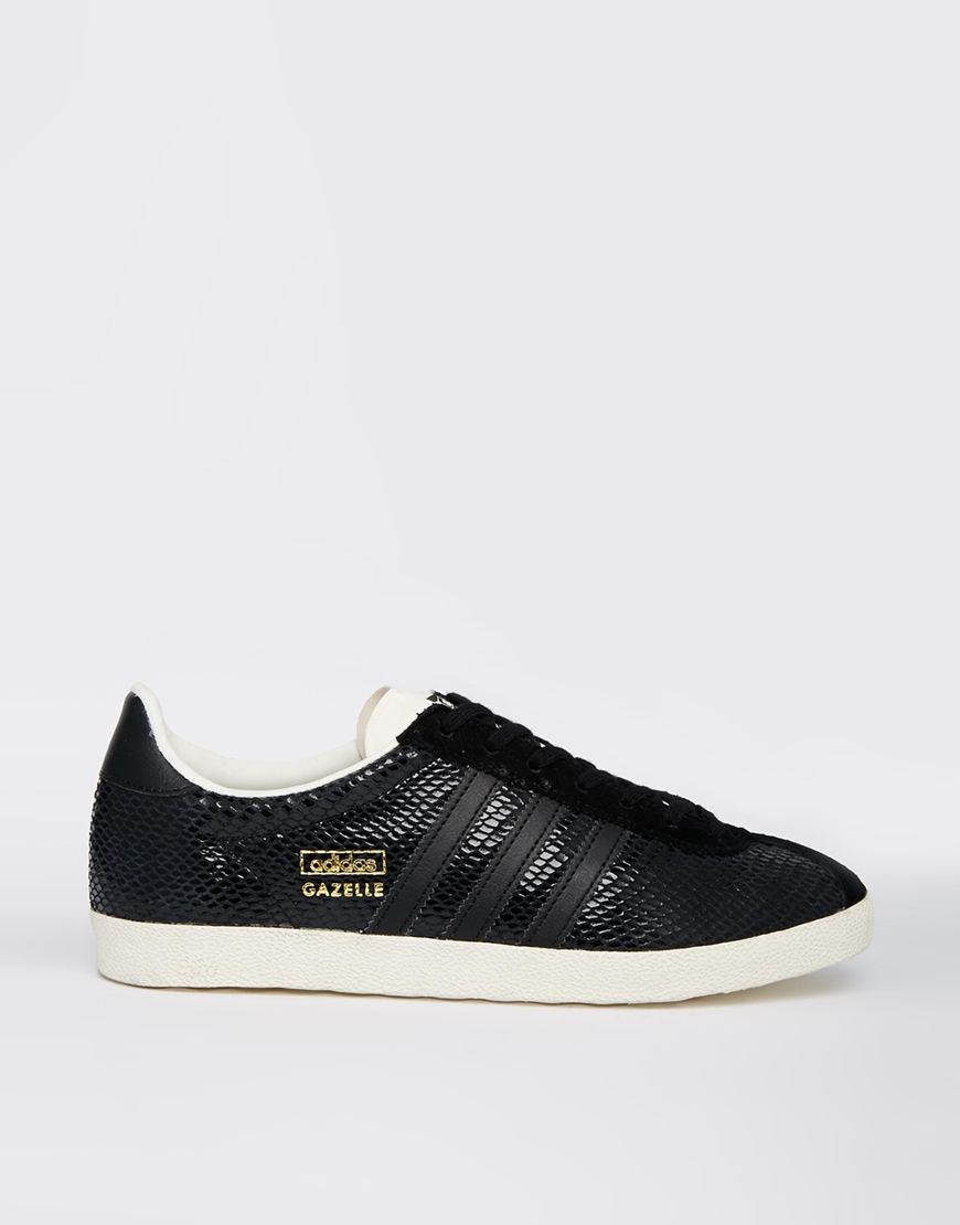 6681f2d2949 Lyst - adidas Gazelle Og Black Leather Sneakers in Black