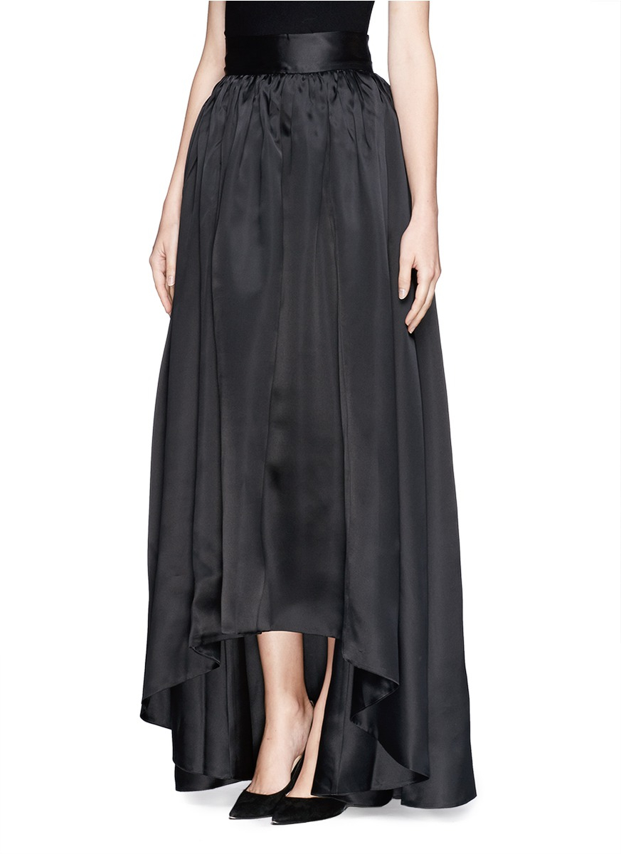 St. john Organza Ball Gown Skirt in Black | Lyst