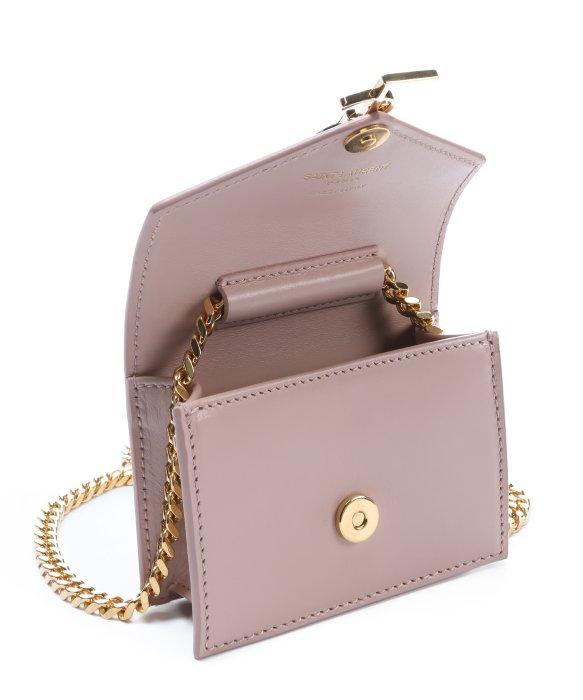 Saint laurent Pale Blush Leather Candy Monogram Envelope Shoulder ...