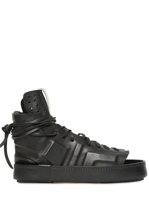 Lyst Artselab Open Toe Leather High Top Sneakers In