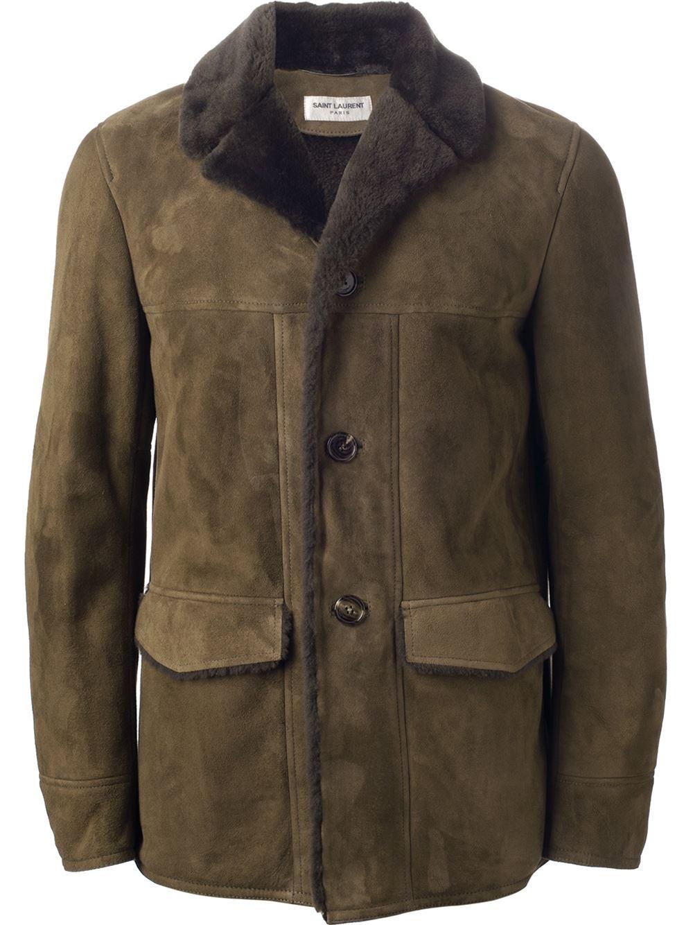 Finest Lyst - Saint Laurent Shearling Jacket in Green for Men OJ55