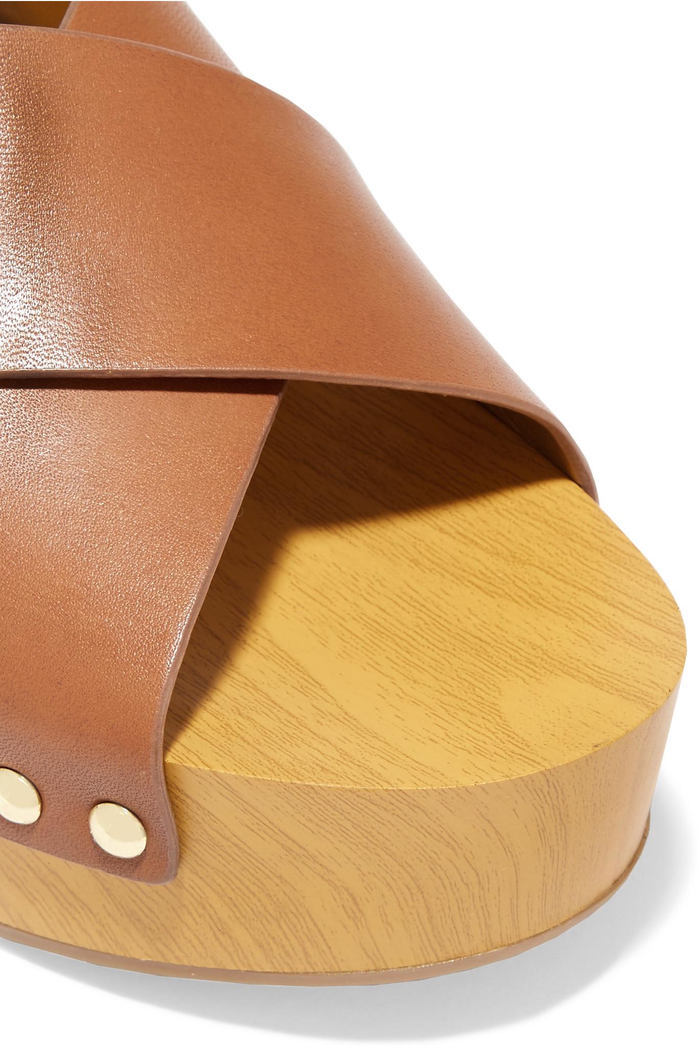 d78f037d4 Lyst - Sam Edelman Bentlee Leather Platform Sandals in Brown