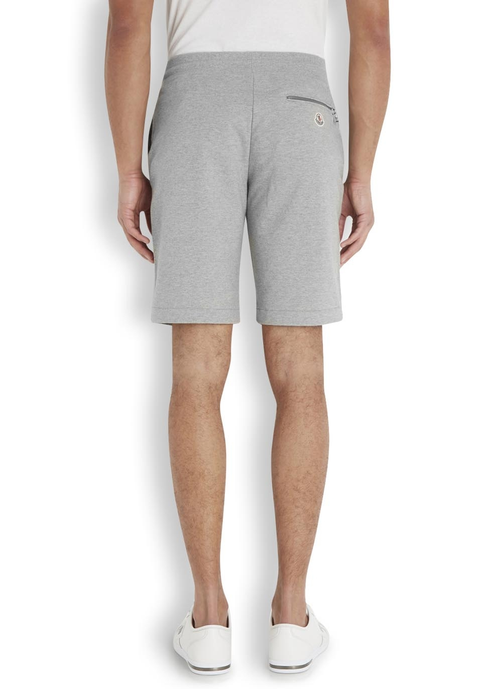 f1e2788cc2b8 Moncler Grey Stretch Cotton Shorts in Gray for Men - Lyst