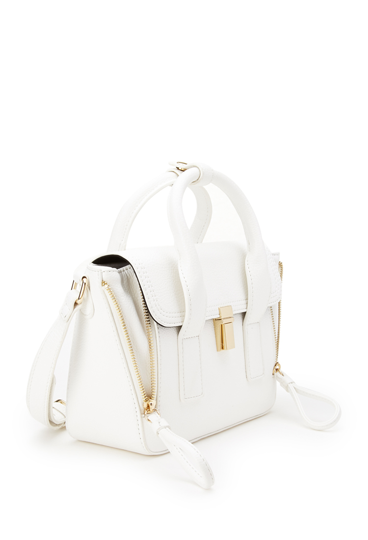 Lyst - Forever 21 Mini Crossbody Trapeze Bag in White