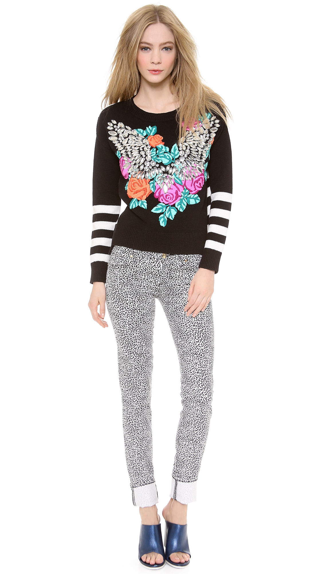 Lyst - Juicy Couture Crystal Wings Pullover