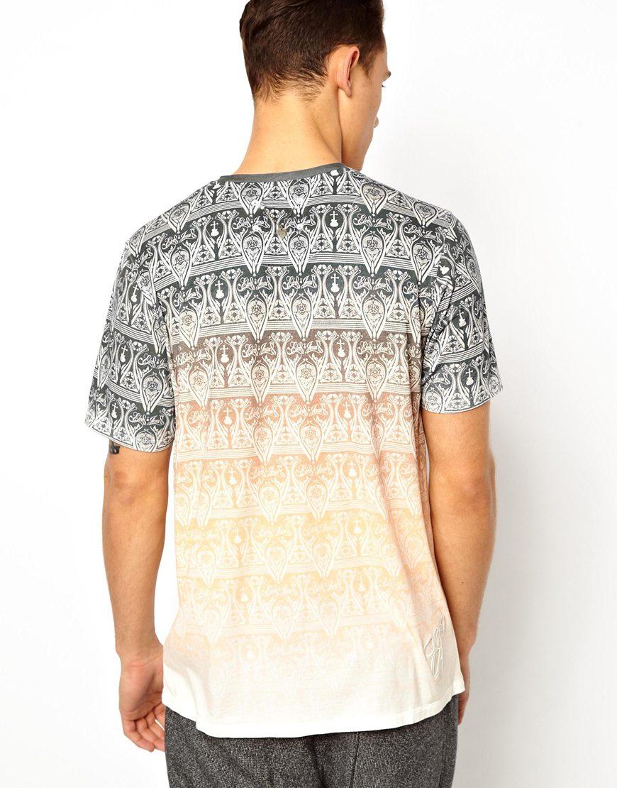 Lyst elvis jesus tshirt hodge in gray for men for Elvis jesus t shirt
