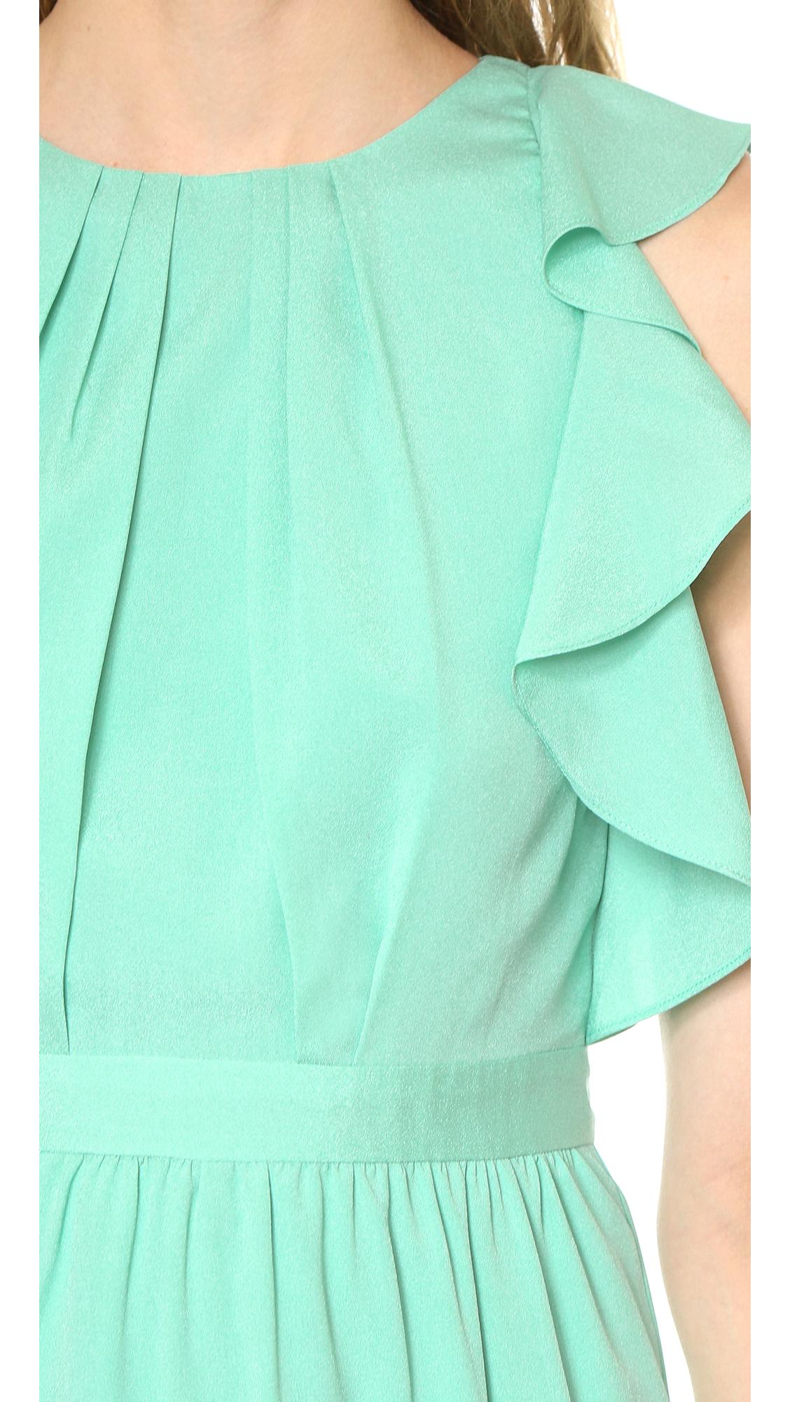 Lyst - Shoshanna Katrina Dress - Aquamarine in Blue