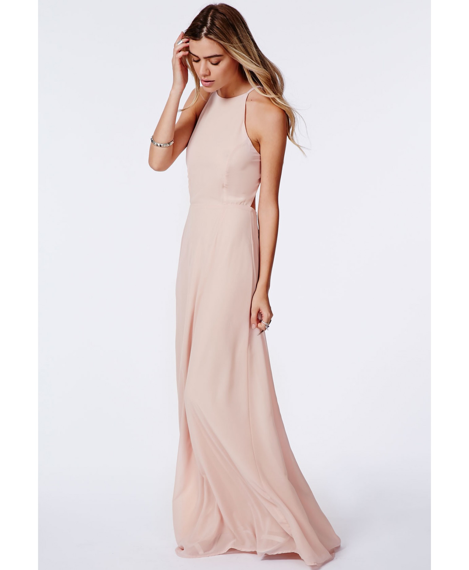 Low Open Back Maxi Dress
