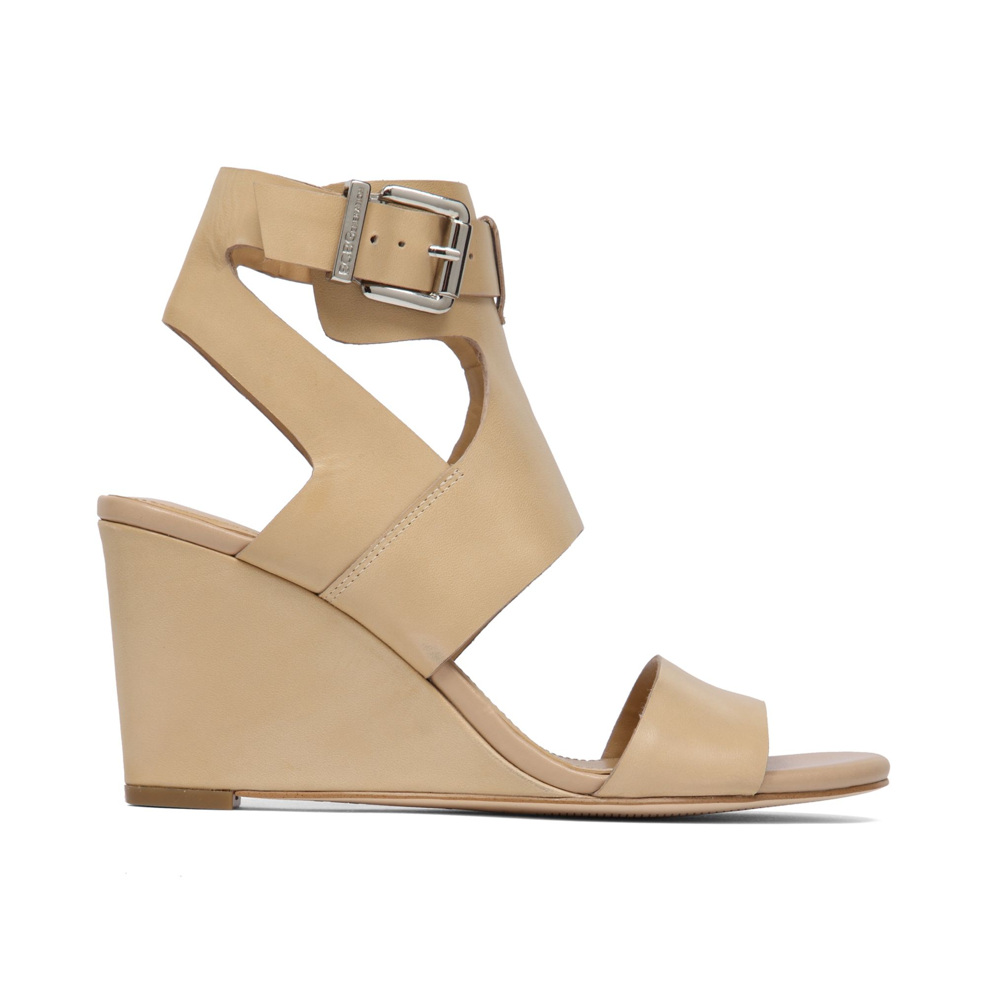 Lyst Bcbgeneration Mandee Wedge Sandals In Natural