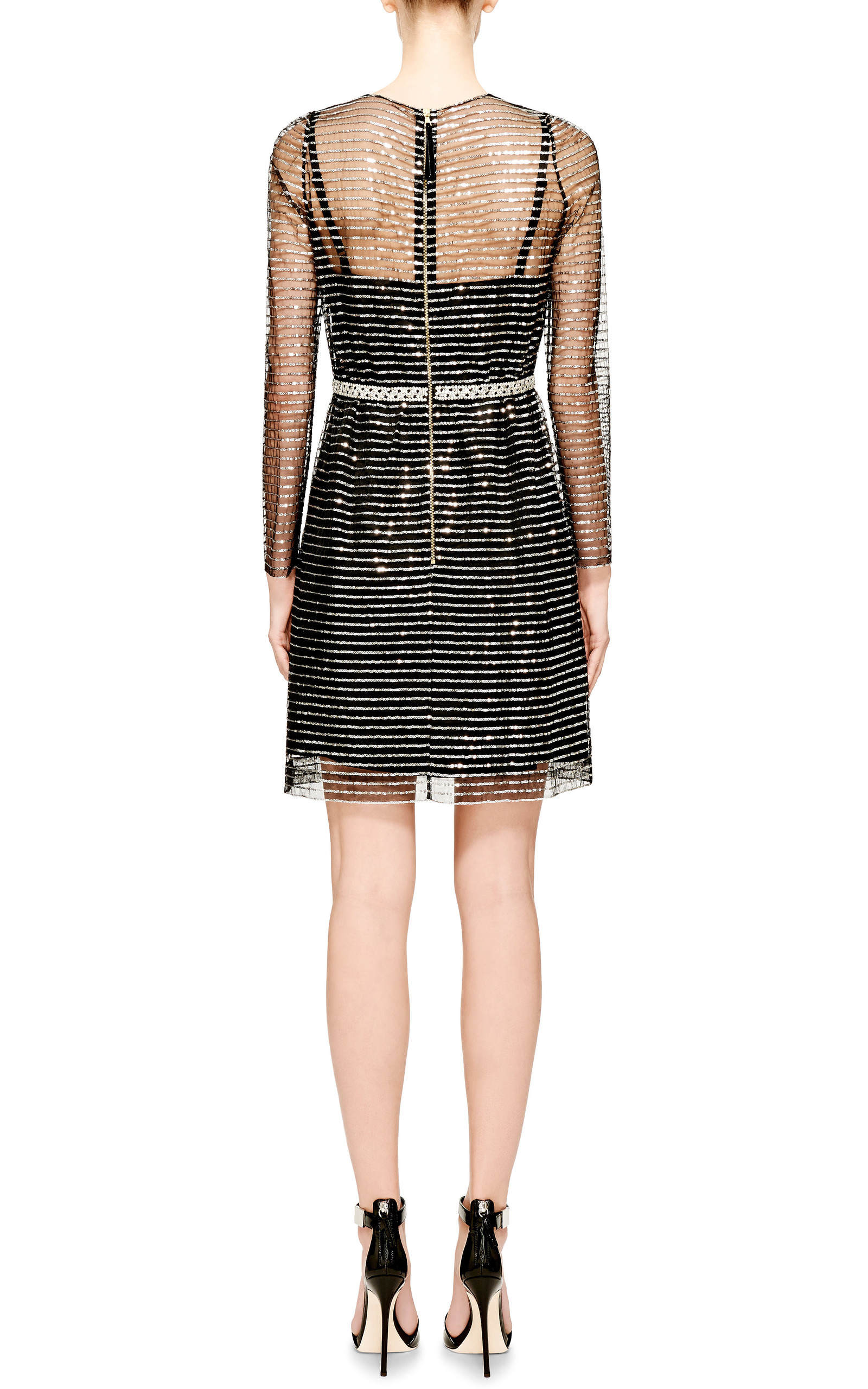 354863fc3aa Lyst - Marc Jacobs Embellished Tulle Dress in Metallic