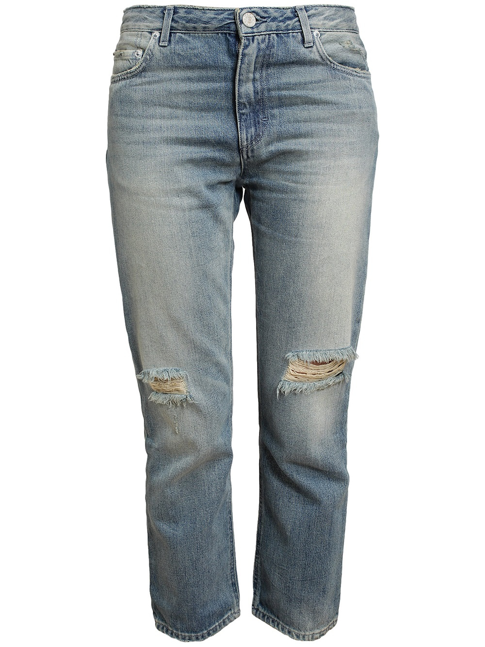 Lyst - Acne Studios Pop Trash Distressed Denim Jeans in Blue