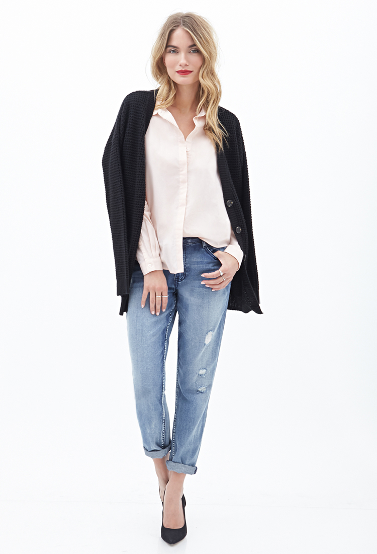Lyst Forever 21 Contemporary Cotton Button Down Shirt In