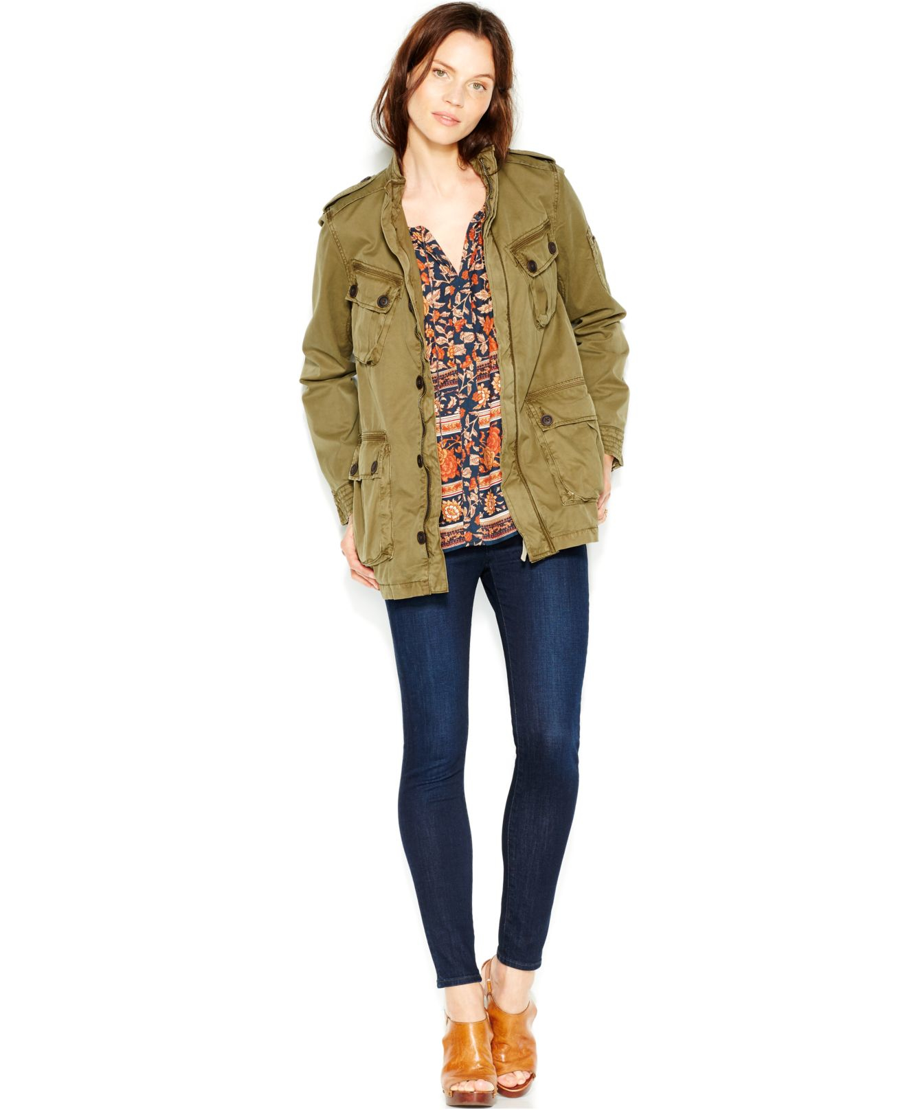 2237b98c3fb Lyst - Lucky Brand Ventura Military Jacket in Green