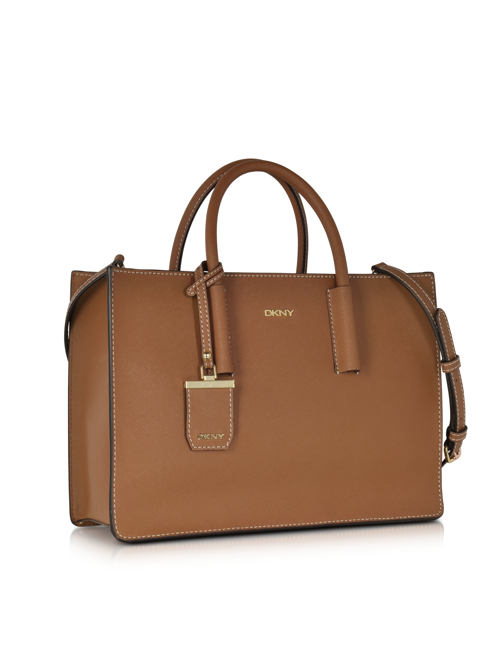 c6164923e3 Dkny Handbags Bryant Park Tan Saffiano Leather Tote Bag - Handbag ...