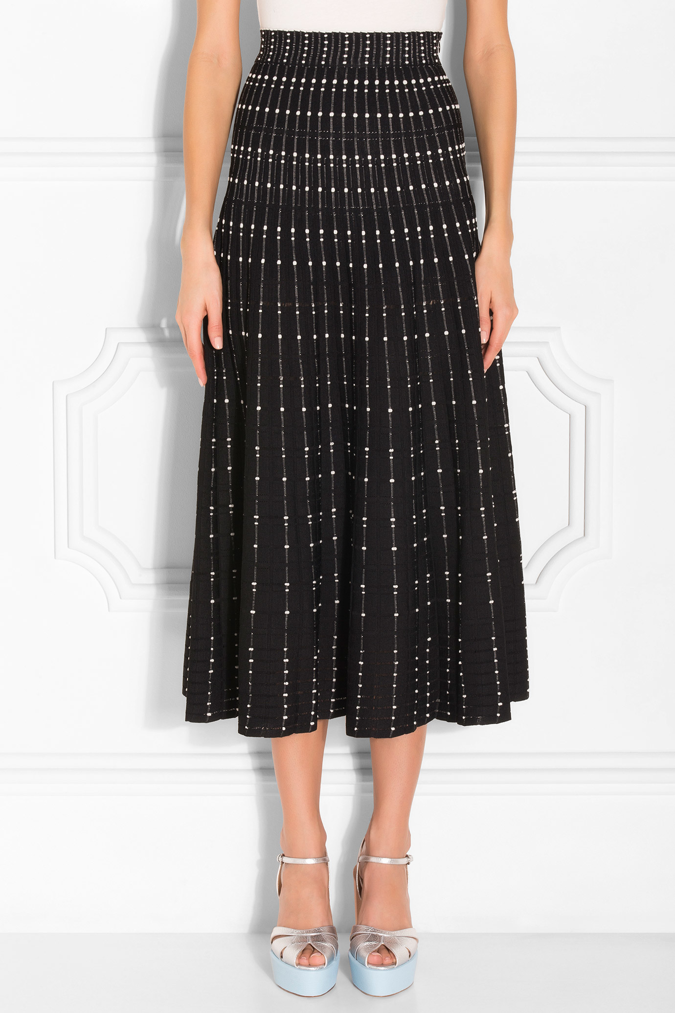 mcqueen maxi knitted skirt lyst