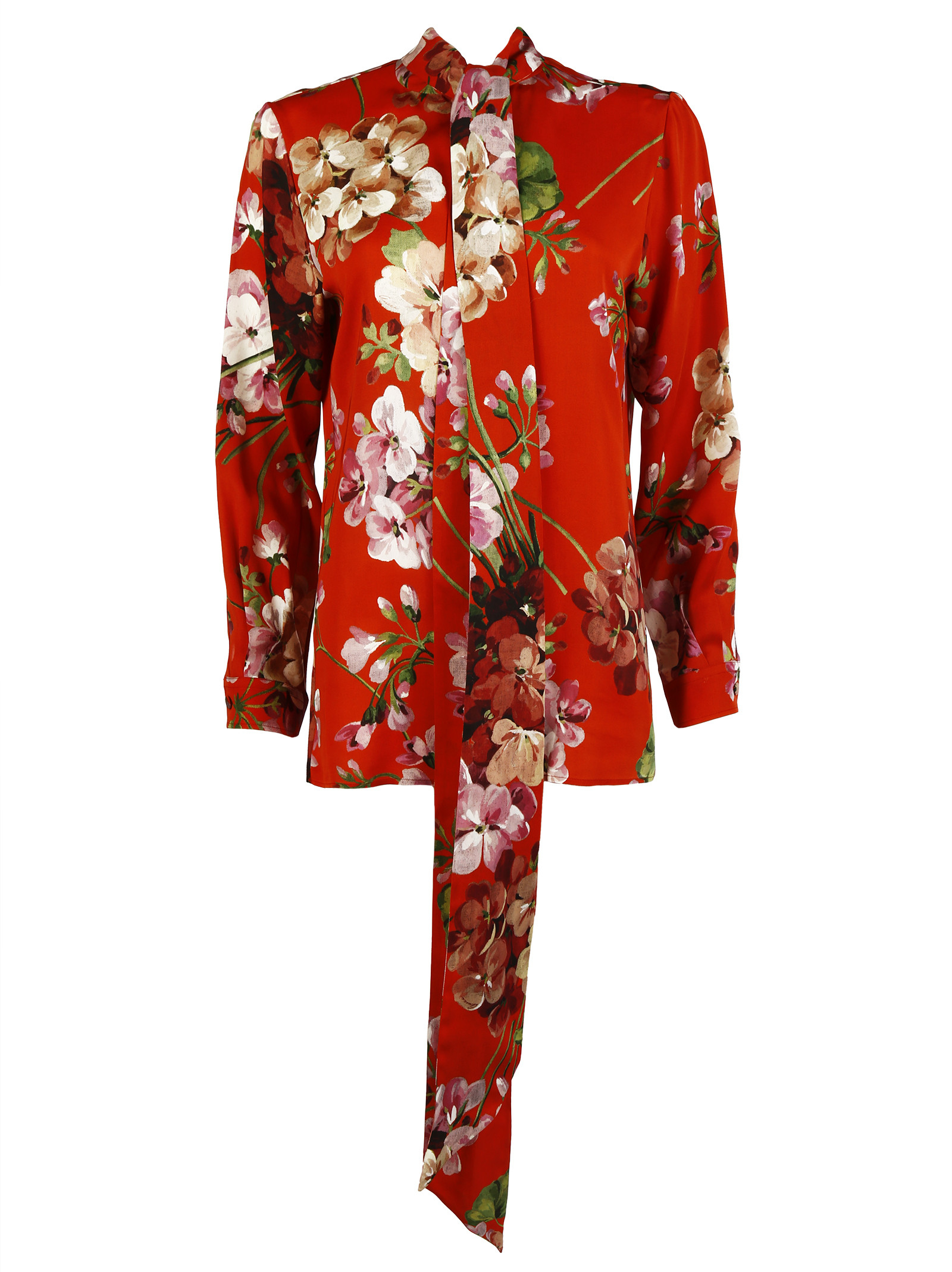 Gucci silk button down shirt in red lyst for Silk button down shirt