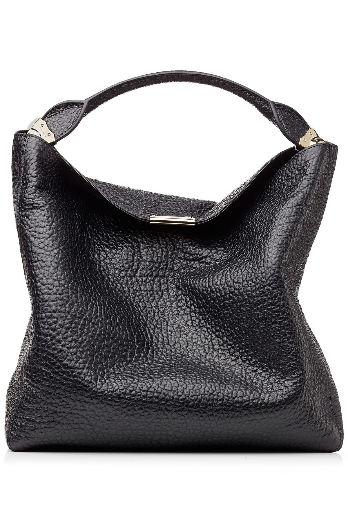 bcb5323a73e Lyst - Burberry Lindburn Embossed Leather Hobo Bag - Black in Black