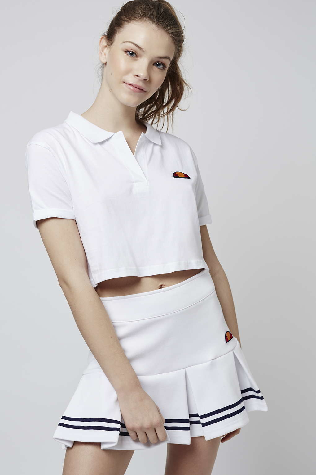 Topshop Cropped Polo Tee By Ellesse In White Lyst