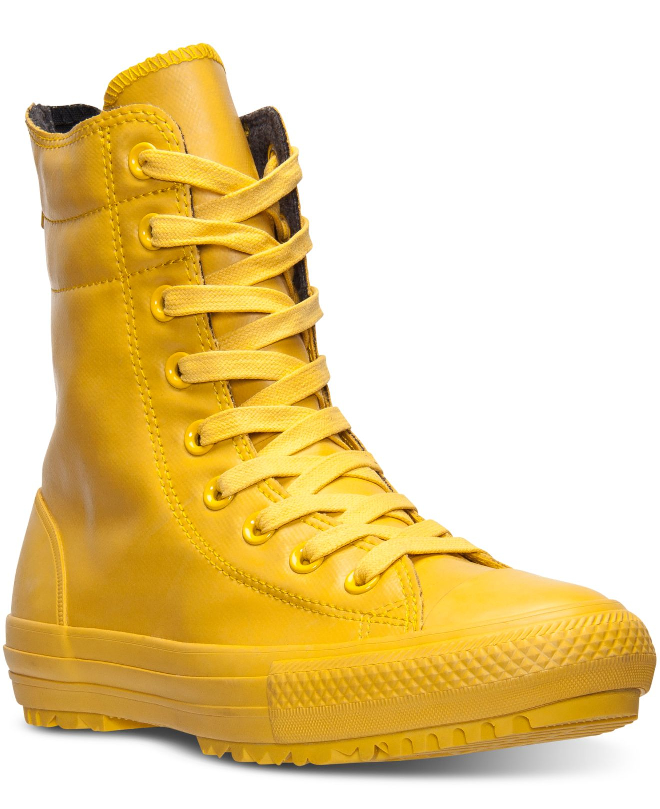 Lyst - Converse Women s Chuck Taylor High Rise Boots From Finish ... f0a29104d953